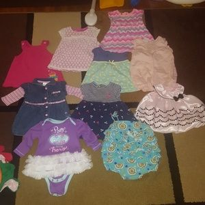 Other - Baby girl 6-9 month dress/romper bundle of 10